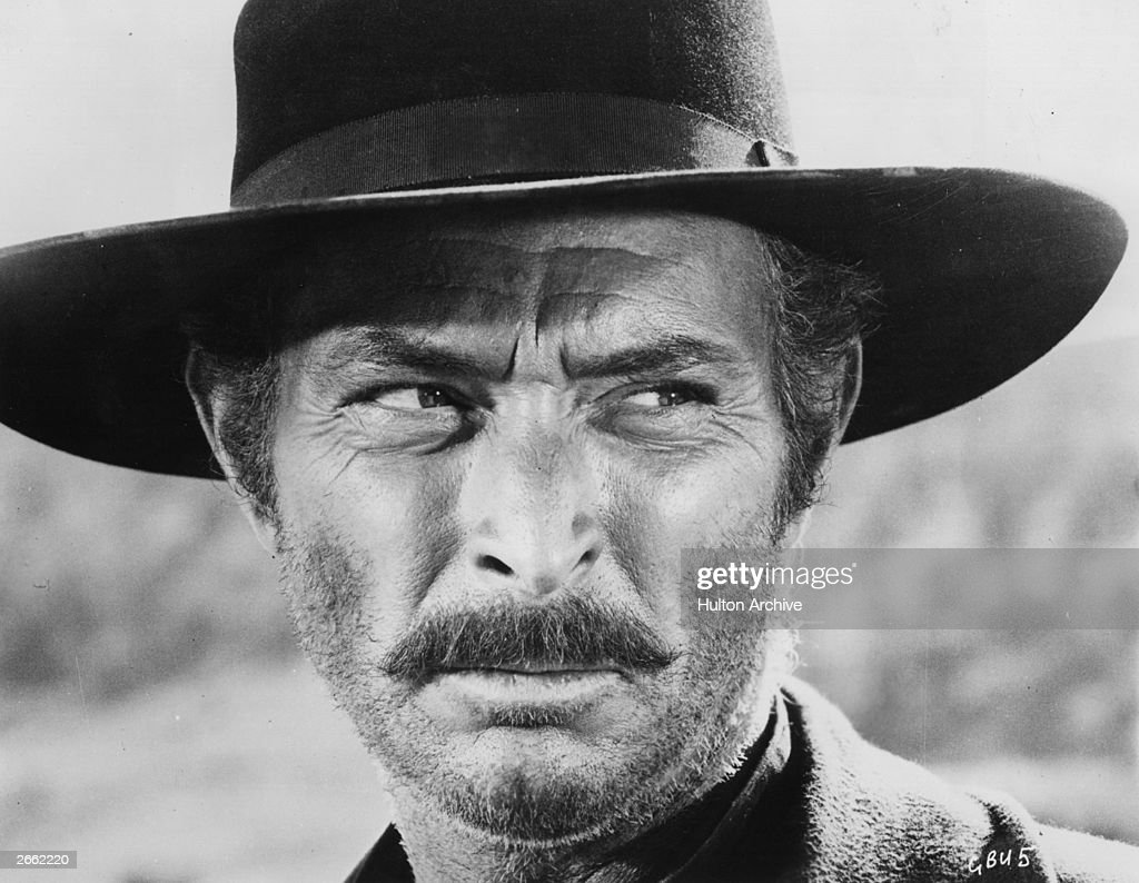 American actor Lee Van Cleef plays the villainous Setenza in Sergio Leone's spaghetti western 'The Good The Bad And The Ugly' directed by Sergio...