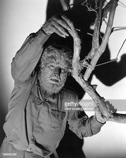 American actor Lon Chaney Jr as the werewolf Larry Talbot in 'The Wolf Man' directed by George Waggner 1941
