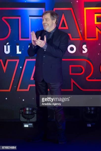 American actor Mark Hamill attends the 'Star Wars The Last Jedi' premiere at Oasis shopping mall in Mexico City Mexico on November 20 2017