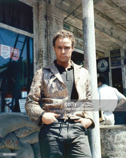American actor Marlon Brando as Valentine 'Snakeskin' Xavier in a promotional portrait for 'The Fugitive Kind' directed by Sidney Lumet 1959