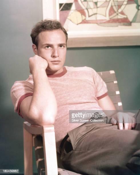 American actor Marlon Brando circa 1955