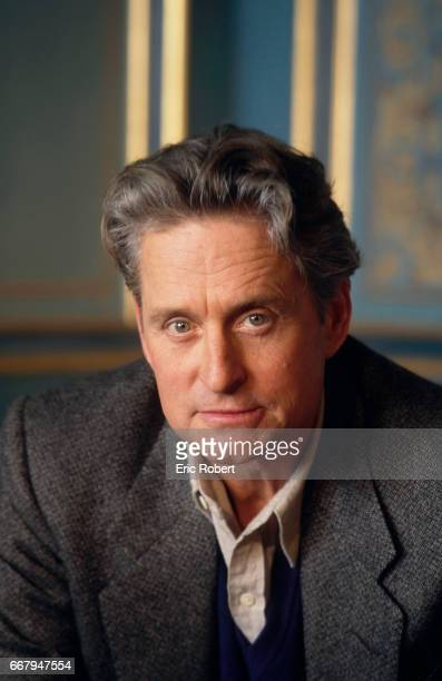 American actor Michael Douglas visits Paris to promote the film The Ghost and the Darkness