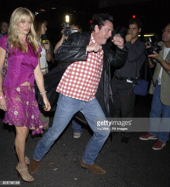 American actor Michael Madsen with his wife Deanna arrives for 'The House Warming' a party to celebrate the first anniversary of jewellers Garrard in...