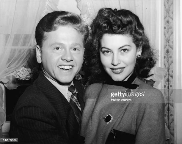 American actor Mickey Rooney and his first wife American actress Ava Gardner shortly before their wedding January 1942