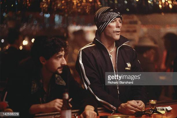 American actor Mickey Rourke as a Jewish drug addict from Brooklyn and Adrien Brody as his friend Ruby in the film 'Bullet' 1996