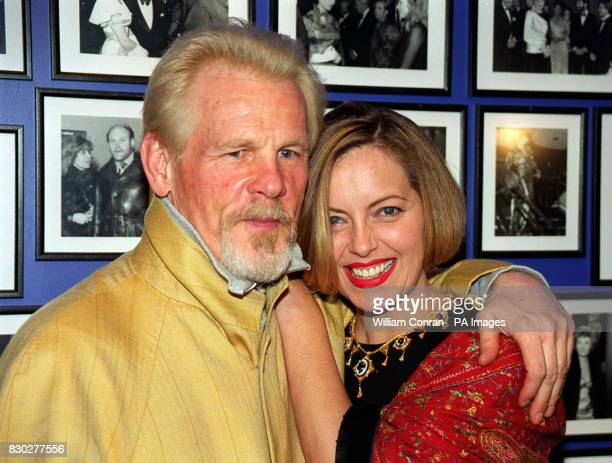 American actor Nick Nolte joins actress Greta Scacchi at the 43rd London Film Festival at the Odeon Leicester Square London for the premiere of...