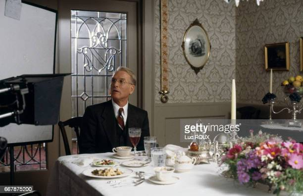 American actor Paul Newman on the set of the film Mr Mrs Bridge directed by James Ivory