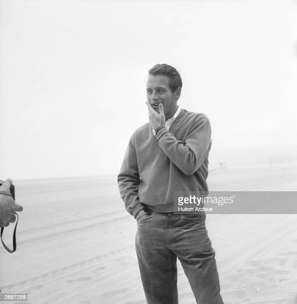 American actor Paul Newman poses or a photograph circa 1958