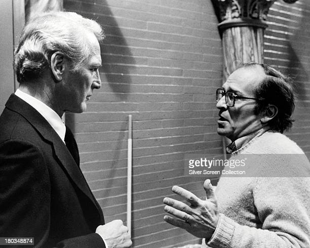 American actor Paul Newman with director Sidney Lumet on the set of 'The Verdict' 1982