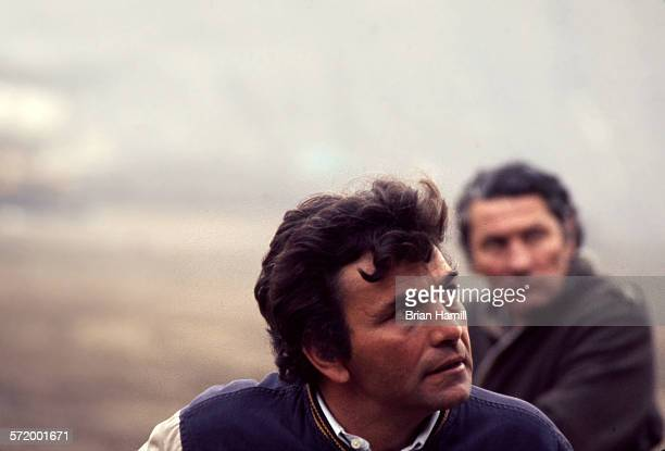 American actor Peter Falk on the set of the film 'A Woman Under the Influence' 1974