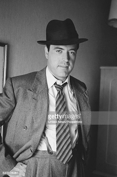 American actor Powers Boothe pictured dressed in character as Philip Marlowe during filming of the television series Philip Marlowe Private Eye in...