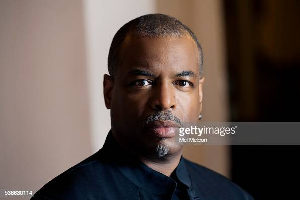 American actor presenter director and author LeVar Burton is photographed for Los Angeles Times on May 9 2016 in Los Angeles California PUBLISHED...