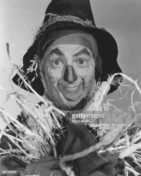 American actor Ray Bolger as The Scarecrow in the MGM film 'The Wizard of Oz' 1939