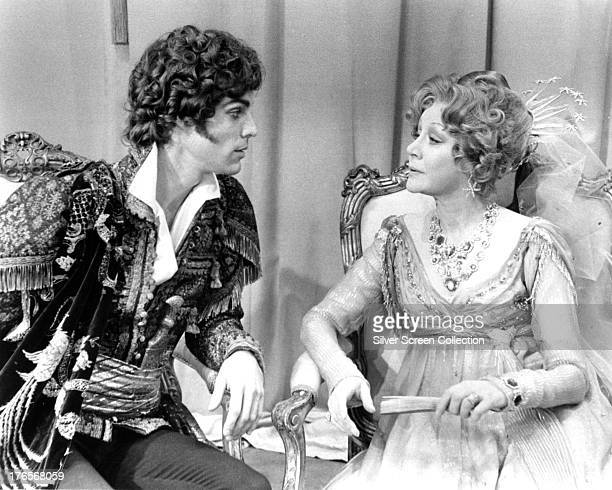 American actor Richard Chamberlain as Lord Byron and Margaret Leighton as Lady Melbourne in 'Lady Caroline Lamb' directed by Robert Bolt 1973