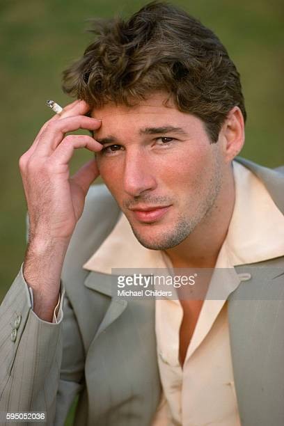 American actor Richard Gere on the set of Yanks