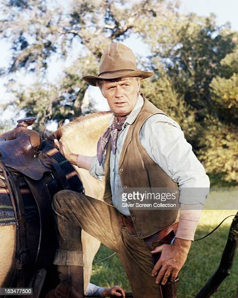 American actor Richard Widmark as Marshal Frank Patch in 'Death Of A Gunfighter' directed by Don Siegel and Robert Totten 1969 The film was credited...
