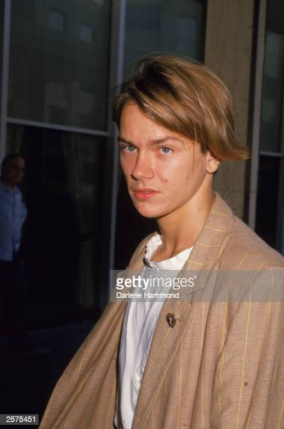 American actor River Phoenix at press conference September 23 1988