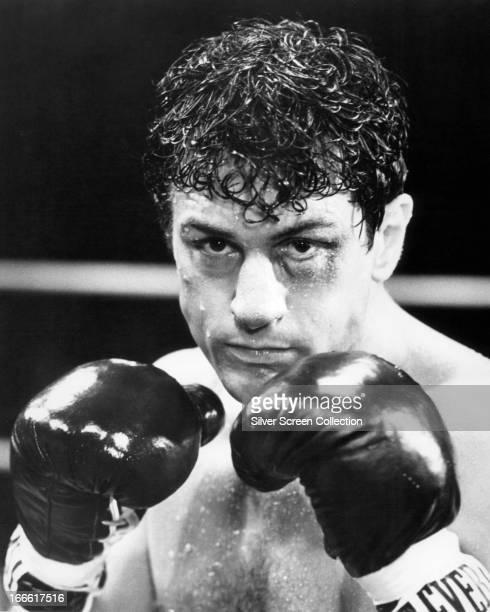 American actor Robert De Niro as Jake LaMotta in 'Raging Bull' directed by Martin Scorsese 1980