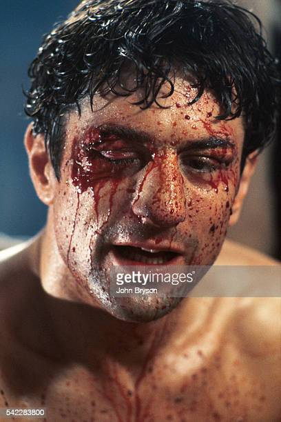 American actor Robert De Niro portrays boxing champion Jake LaMotta in Raging Bull directed by Martin Scorsese