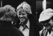 American actor Robert Redford during filming of Sydney Pollack's thriller 'Three Days of the Condor' New York City February 1975