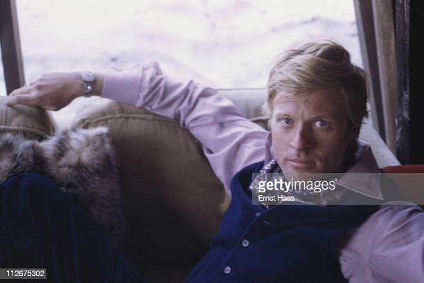 American actor Robert Redford during the filming of 'Downhill Racer' May 1969