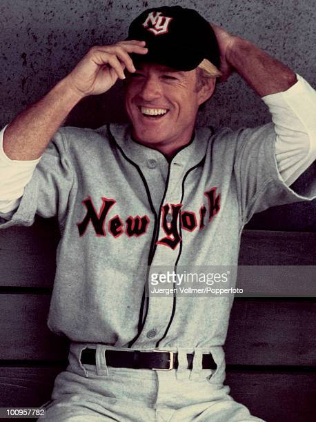 American actor Robert Redford stars as baseball player Roy Hobbs in the film 'The Natural' 1983