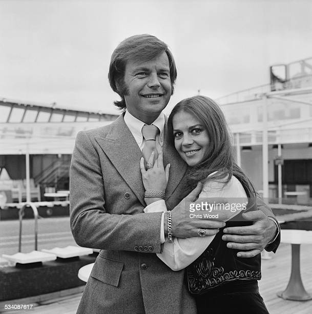 American actor Robert Wagner with his former wife American actress Natalie Wood 23rd April 1972