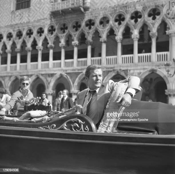 American actor Roger Moore in Venice 1979