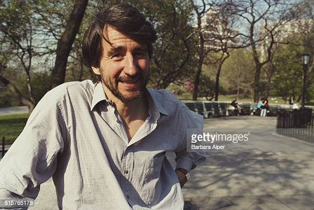 American actor Sam Waterston in Riverside Park New York City 26th April 1990