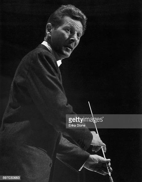 American actor singer and comedian Danny Kaye conducting a concert circa 1960
