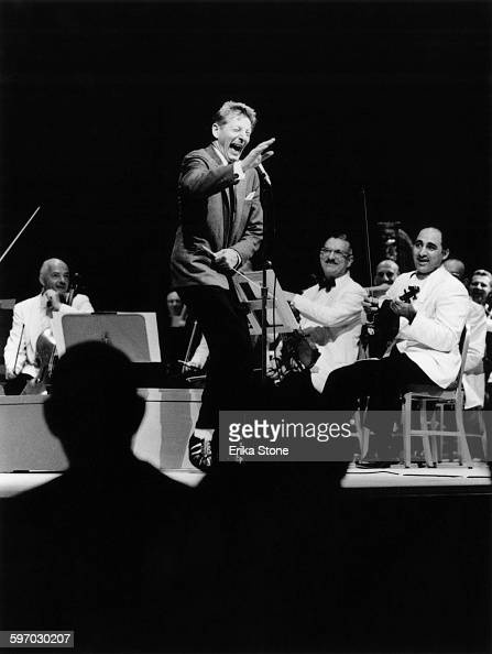 American actor singer and comedian Danny Kaye conducts a concert by the Boston Symphony Orchestra at Tanglewood in Massachusetts 1961