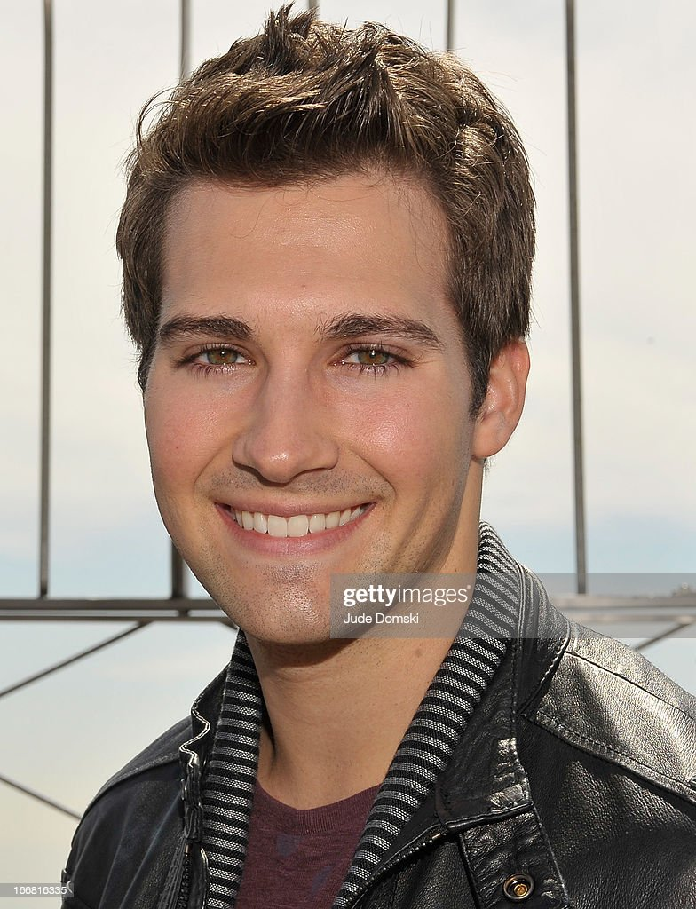 American actor, singer, and dancer James Maslow, of Nickelodeon's Big Time Rush, visits The Empire State Building on April 17, 2013 in New York City.