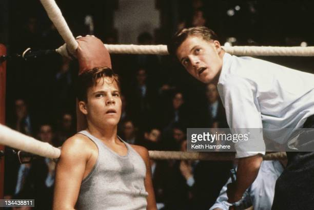 American actor Stephen Dorff as the 18yearold PK and Dominic Walker as his friend and manager Morrie Gilbert in the film 'The Power of One' 1992