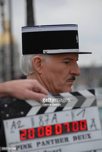 American actor Steve Martin on the set of The Pink Panther 2 directed by Norwegian Harald Zwart