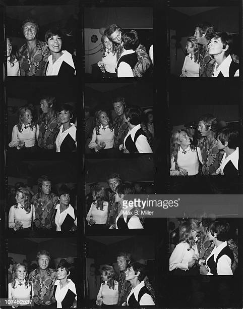 American actor Steve McQueen and his wife actress Neile Adams attend a SHARE charity party with actress Juliet Mills USA May 1970