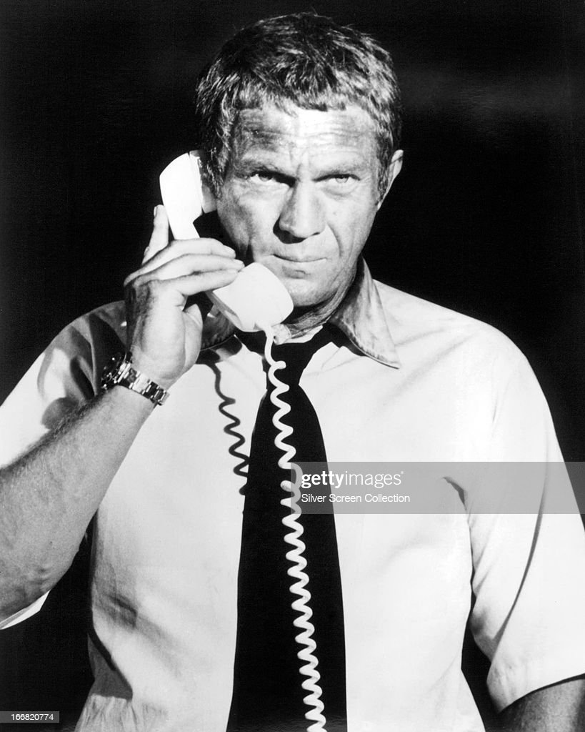American actor Steve McQueen (1930 - 1980) as Fire Chief Michael O'Hallorhan in 'The Towering Inferno', directed by John Guillermin and Irwin Allen, 1974.