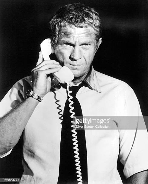 American actor Steve McQueen as Fire Chief Michael O'Hallorhan in 'The Towering Inferno' directed by John Guillermin and Irwin Allen 1974