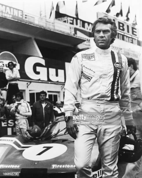 American actor Steve McQueen as racing driver Michael Delaney in 'Le Mans' directed by Lee H Katzin 1971