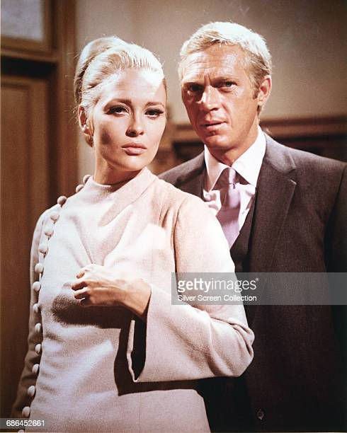 American actor Steve McQueen as Thomas Crown and actress Faye Dunaway as Vicki Anderson in the film 'The Thomas Crown Affair' 1968