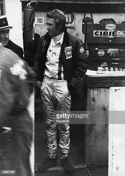 American actor Steve McQueen at the 50th Grand Prix of Endurance Le Mans during the making of 'The 24 Hours Of Le Mans' Original Publication People...