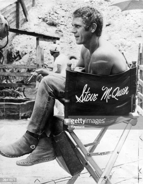 American actor Steve McQueen on the set of 'Nevada Smith' in which he played the title role