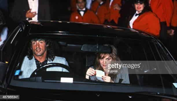 American actor Sylvester Stallone circa 1986