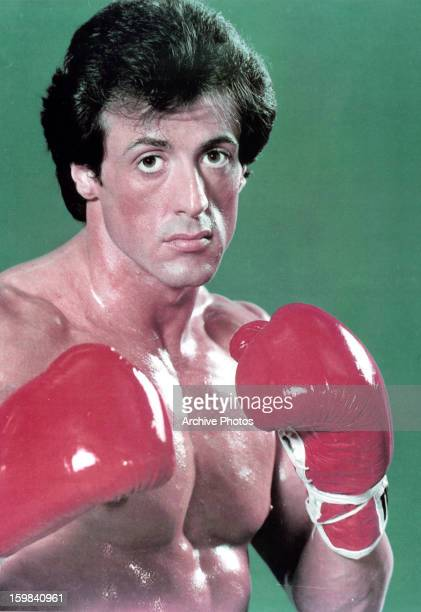 American actor Sylvester Stallone in a publicity portrait for the film 'Rocky' directed by John G Avildsen 1976