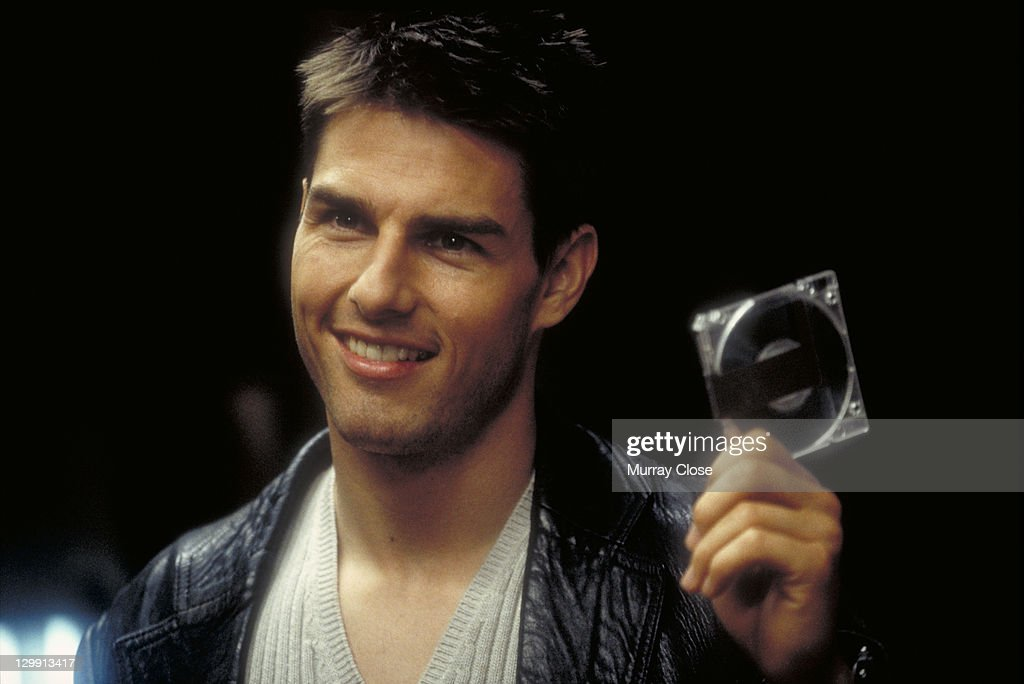 American actor Tom Cruise as IMF agent Ethan Hunt in a scene from the film 'Mission Impossible' 1996