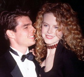 American actor Tom Cruise with his wife Nicole Kidman circa 1992