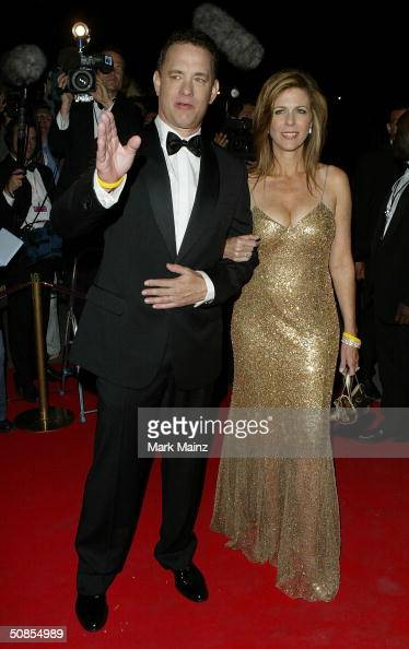 American actor Tom Hanks and his wife actress Rita Wilson attend 'The Ladykillers' After Party at Les Pecheurs during the 57th International Cannes...