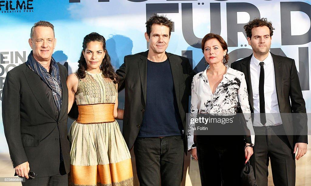 American actor Tom Hanks british actress Sarita Choudhury producer Tom Tykwer danish actress Sidse Babett Knudsen and american actor Alexander Black...
