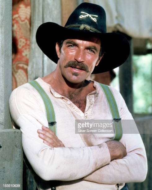 American actor Tom Selleck as Orrin Sackett in the TV movie 'The Sacketts' directed by Robert Totten 1979