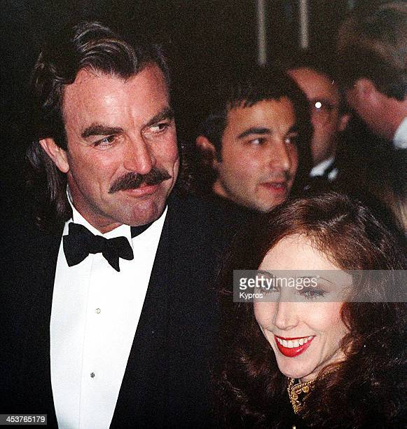 American actor Tom Selleck with his wife Jillie Mack circa 1990