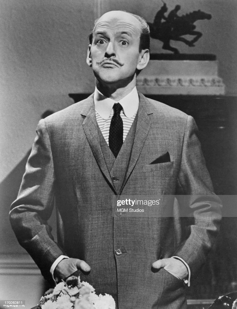 American actor <a gi-track='captionPersonalityLinkClicked' href=/galleries/search?phrase=Tony+Randall+-+Actor&family=editorial&specificpeople=167042 ng-click='$event.stopPropagation()'>Tony Randall</a> as 'Hercule Poirot' in 'The Alphabet Murders', a film adaptation of Agatha Christie's 'The A.B.C. Murders', 1965. In this scene Poirot winds up his investigation into a series of murders in London.